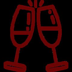 Zwei Gläser stoßen an