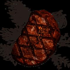 Der Ox Steak auf Kräutern